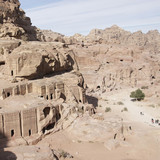 AERIAL VIEW OF PETRA (V), JORDAN