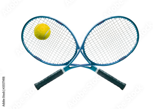 Tennis equipment: ball and racket