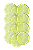 Fresh juicy lime slice isolated on white background