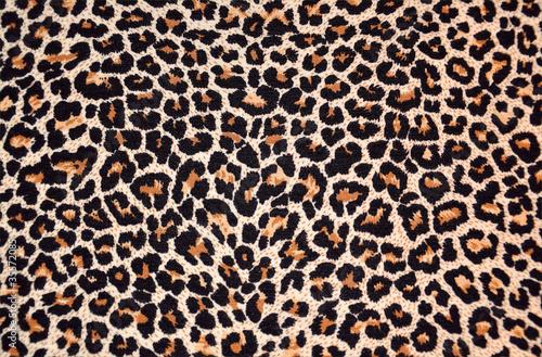 Leinwandbild Motiv abstract texture of leopard fur (skin)