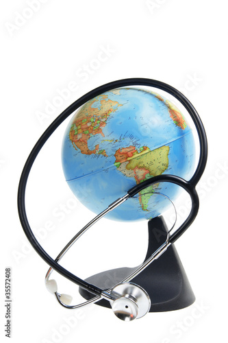 Globe and Stethoscope