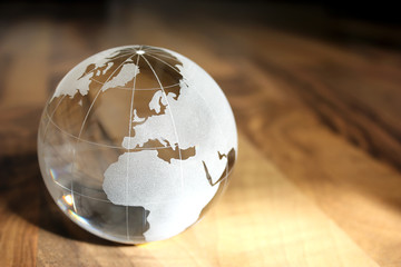 Earth transparent glass