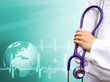 Medical background with a doctor