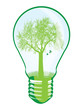 Tree in light bulb vector