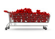 Extra large shopping trolley percentages