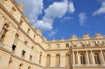 Royal residence at Versailles near Paris in France