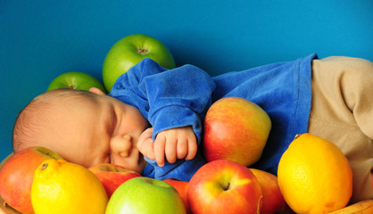 Baby in Apples