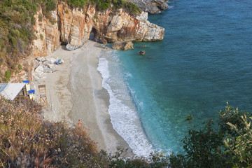 Mylopotamos beach at Pelion in Greece