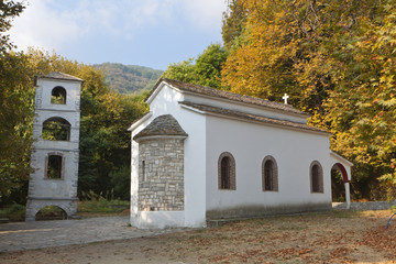 Greek traditional church at Tsagarada of Pelion in Greece