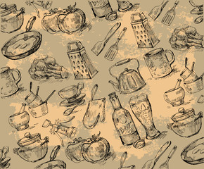 seamless pattern-hand drawn
