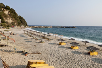 Agios Ioannis village and beach at Pelion in Greece
