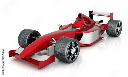 Foto op Canvas Snelle auto s image red sports car on a white background