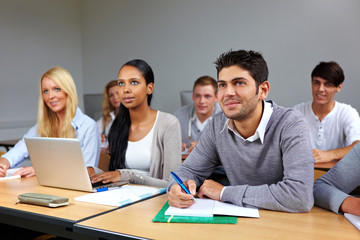 Fleißige Studenten