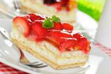 Fototapety Erdbeer und Obstkuchen