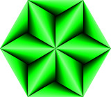 Abstract Polygon Green poster