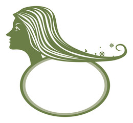 女性 髪 ロゴ