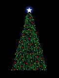 Sketchy Christmas tree poster