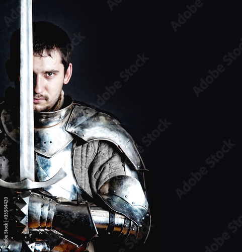 Warrior holding his great sword