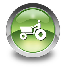 "Green Glossy Pictogram ""Tractor"""