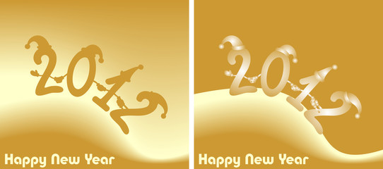Illustration: amusing New Year's figures 2012