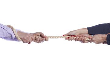 Tug-of-war hands