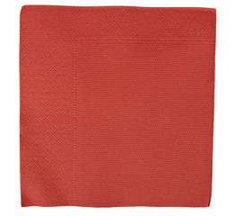 Red Christmas or festive paper napkin aka serviette, isolated on