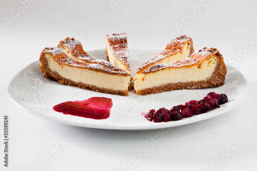 Cheesecake Slice with Soft Fruits