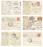 Retro postcards set