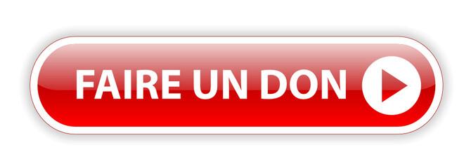 Bouton Web FAIRE UN DON (donner argent organisation caritative)