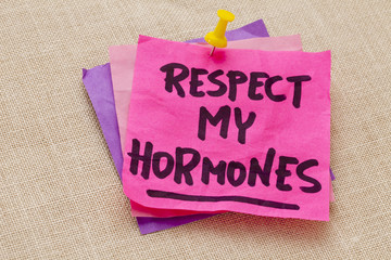 respect my hormones warning