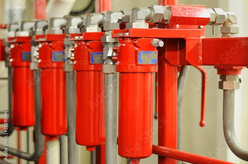 Leinwanddruck Bild Hydraulics