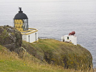 Warning Light Beacon On A Headland