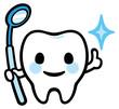 歯のキャラクター(鏡)