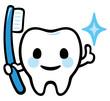 歯のキャラクター(歯ブラシ)