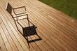 chaise en inox et bois sur terrasse ipé - 35596054