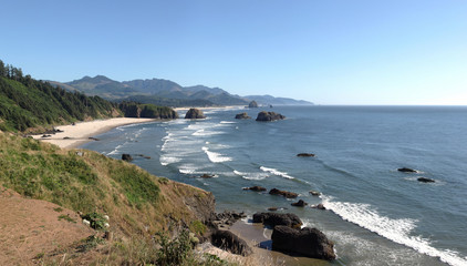 Oregon coastline from Ecola state park, Oregon.