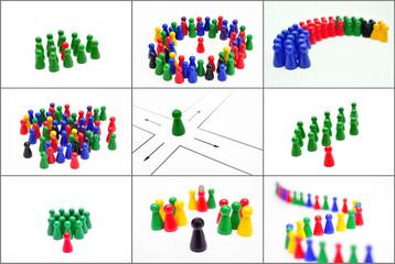Collage Konzepte Business / Teamplayer / Zukunft / Chef