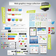 Web graphics mega collection - Panixxo series