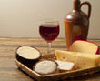 Red wine and cheese varieties