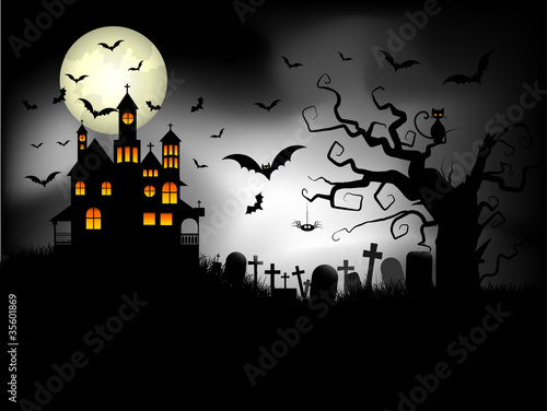 Spooky Halloween background