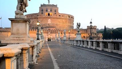 Castel Sant'Angelo all'alba, Roma