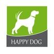 Logo happy dog # Vector