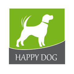 Logo happy dog # Vector