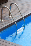 Swimming pool and handrail poster