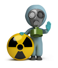 3d small people - radiation