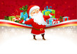Festive background with Santa Claus