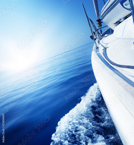Luxury Yacht under Sail. Tourism. Lifestyle