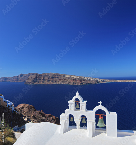 Church bells on Santorini island, Greece