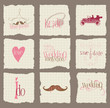 Paper Love and Wedding Design Elements -for invitation, scrapboo