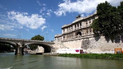Ponte Umberto I and Edifice of Supreme Court of Cassation